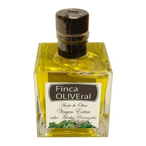 Aceite oliva sabor Hierbas Provenzales. Aceite oliva virgen extra. Frasco cristal 100ML (fin)