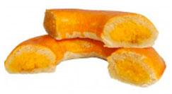 Cascas de yema y batata